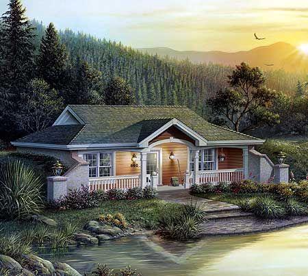 Plan 57125ha Nestled Earth Berm Cottage Retreat Cottage Style House Plans Vacation House Plans Earth Sheltered Homes