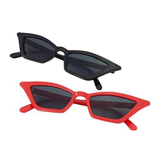 1e88cfa5e9936 SteamedBun Slim Cat Eye Sunglasses for Women Retro Narrow Frame Skinny  Shades Glasses 2018