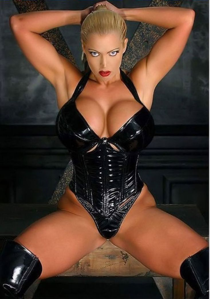 Latex corsets and stockings