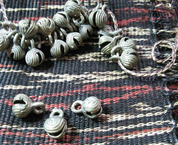 Vintage Philippine Tribal Brass Bells Tboli Tribe Mindanao Pendants Beads Charms. $2.99, via Etsy.
