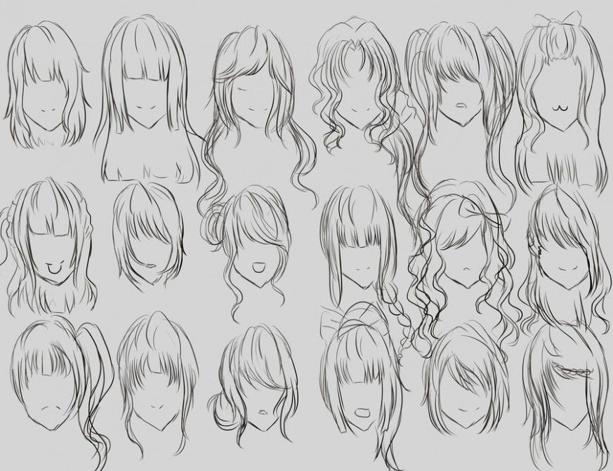 Female Hairstyle Reference In 2020 Hair Reference Womens Hairstyles How To Draw Hair