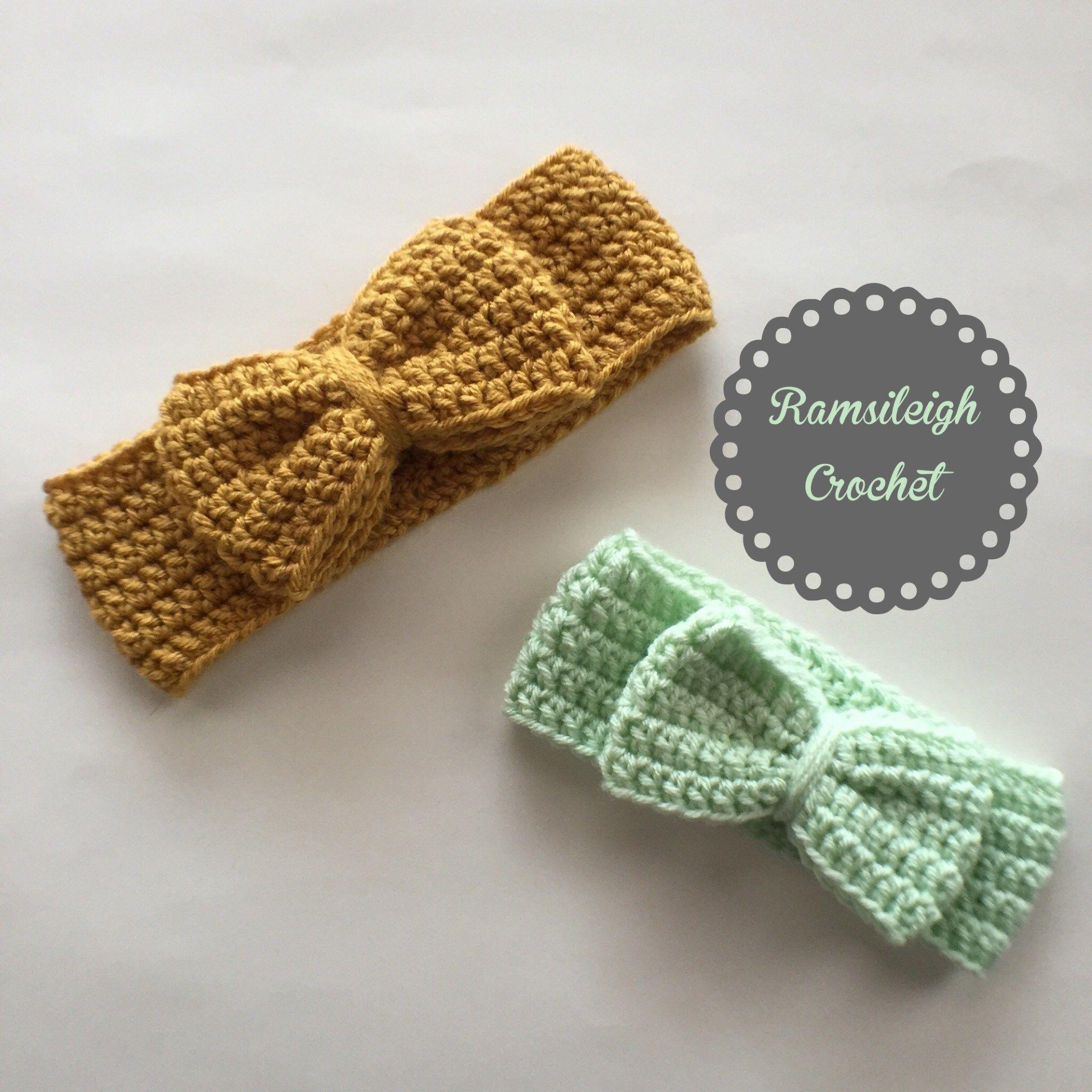 Crochet bow headwrap free pattern baby pinterest crochet crochet bow headwrap free pattern dt1010fo