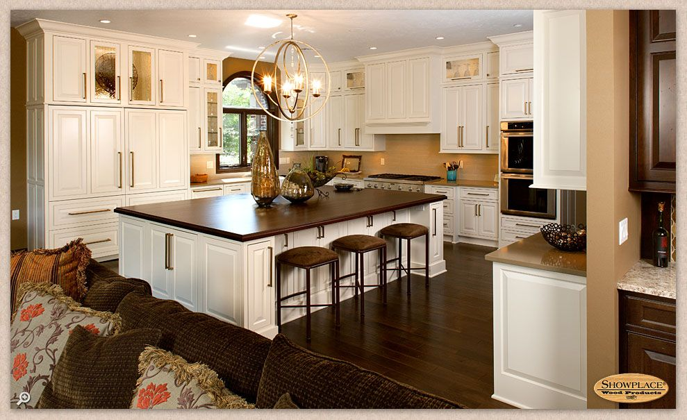 Images Of A Custom Peruvian Walnut Countertop For A Large Kitchen Island In Sioux  Falls, South Dakota Designed By Showplace Kitchens And Finished With ...
