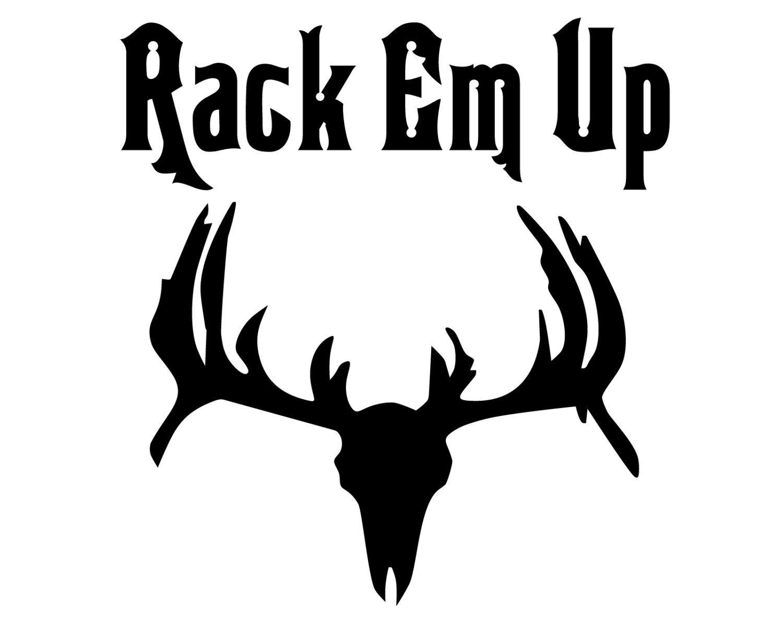 Deer Hunter Vinyl Sticker Deer Hunting Decal Rack Em