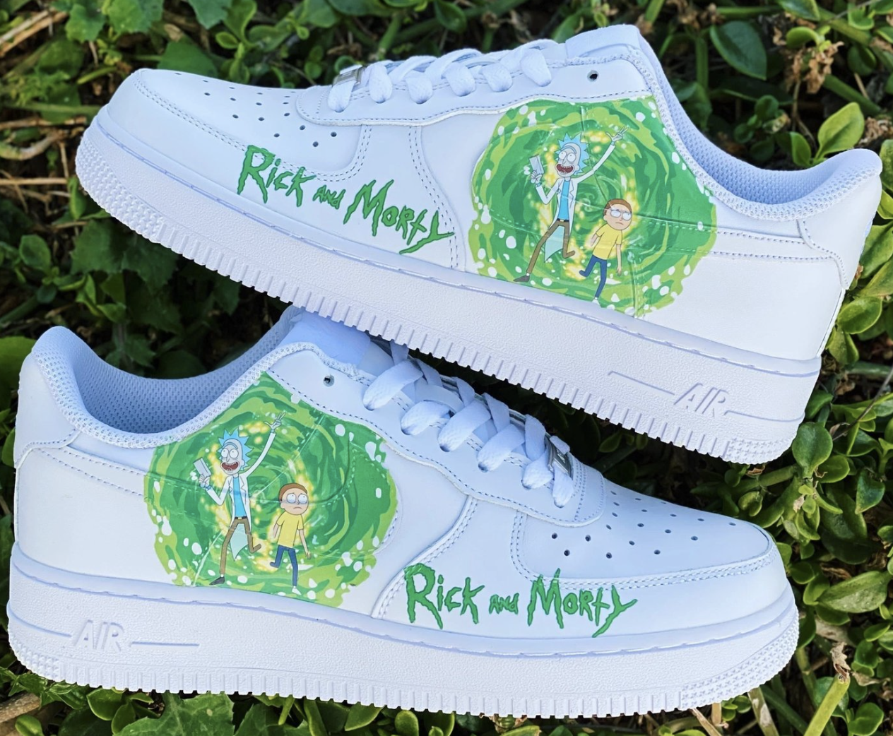 Rick and Morty AF1 in 2020 Custom nike shoes, Nike air