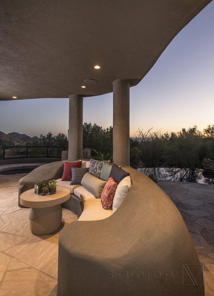 Patio Seating Private Residence Desert Highlands Scottsdale AZ