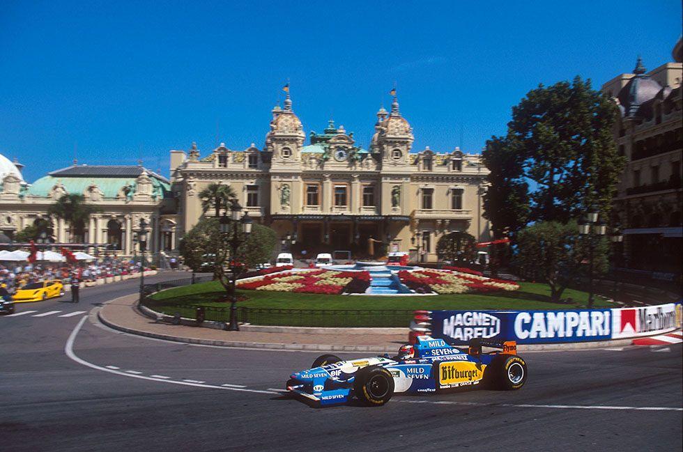 Michael Schumacher su Benetton - Renault Monaco 1995