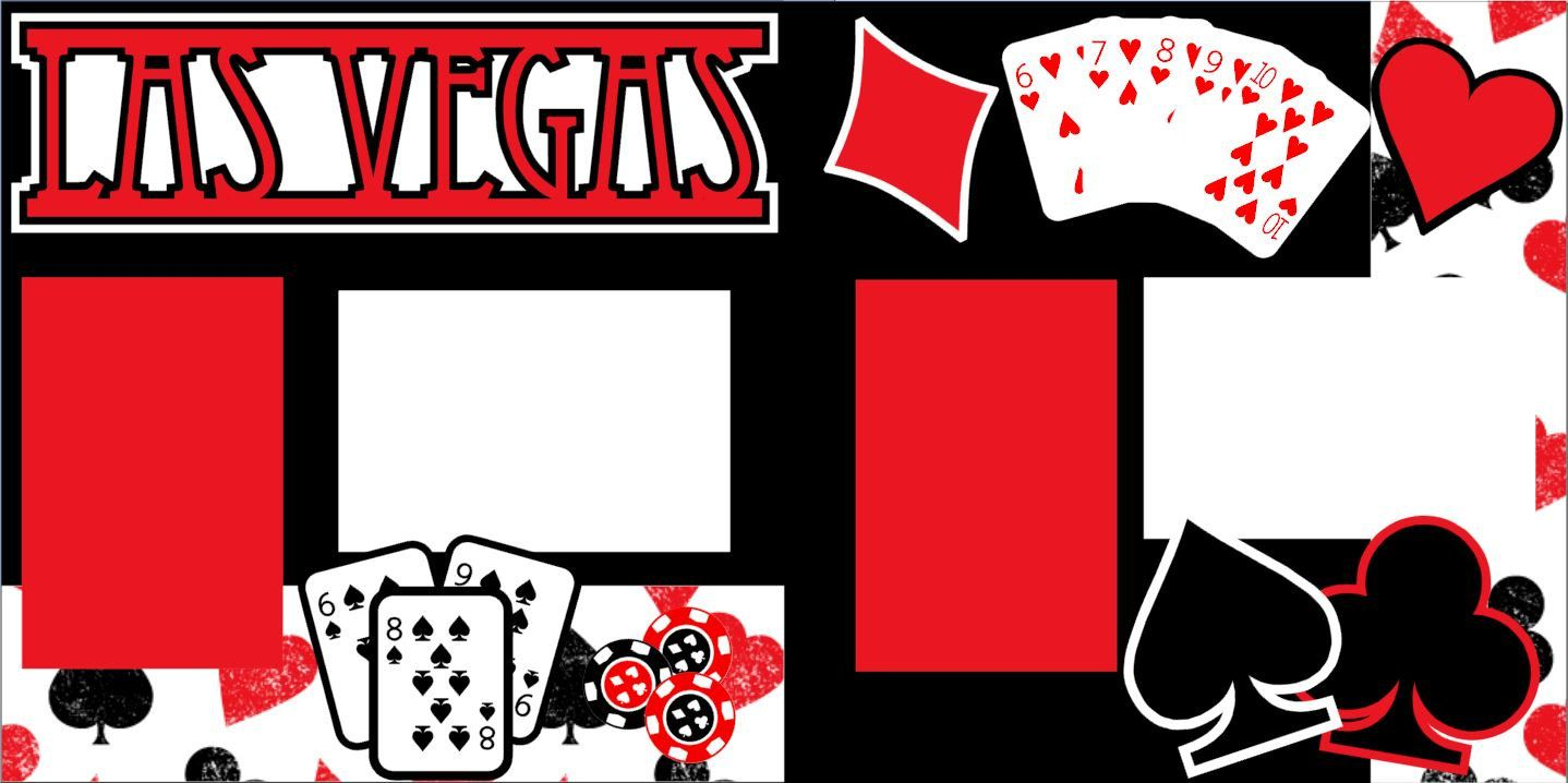 Scrapbook ideas las vegas - Scrapbook Page Kit Or Premade Layout 12x12 2 Page Las Vegas Travel Vacation Holiday