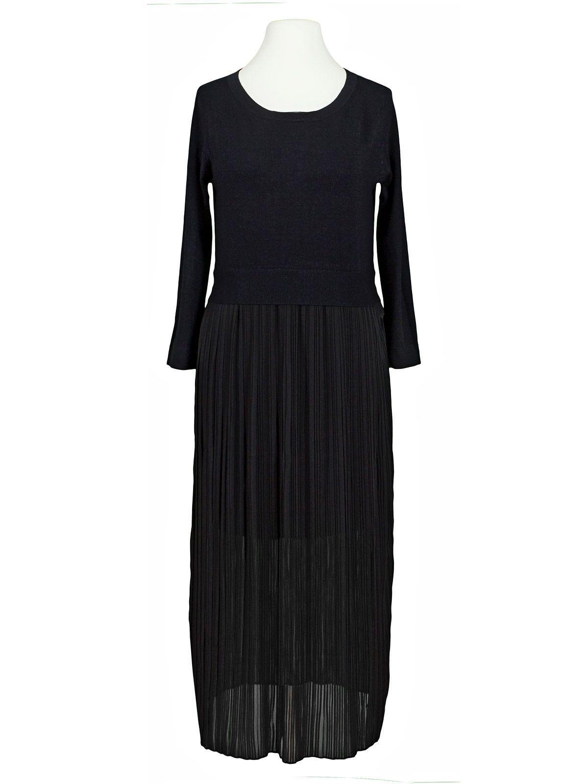 Kleid mit Plisseerock, schwarz | Kleider, Plisseerock