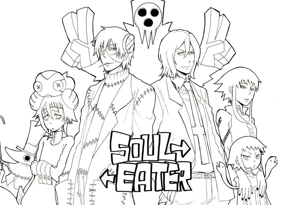 Image Result For Soul Eater Coloring Pages Coloring Pages Dragon