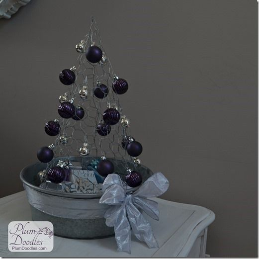 How to Make Chicken Wire Christmas Trees | Galvanized tub, Chicken ...