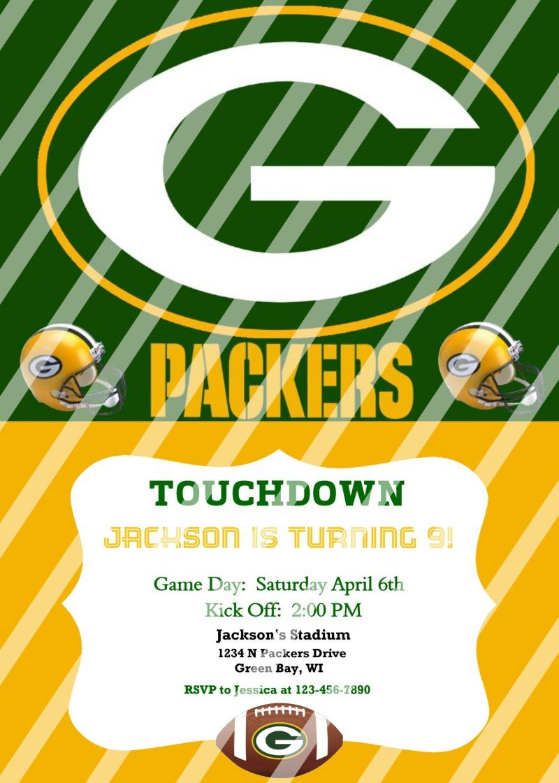 Green Bay Packers Personalized Party Invitation #4 (digital file you ...