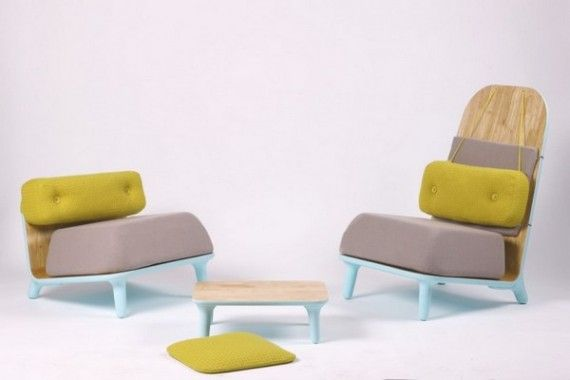 The Creative Small Pastel Family Chairs by Jovana Bogdanovic