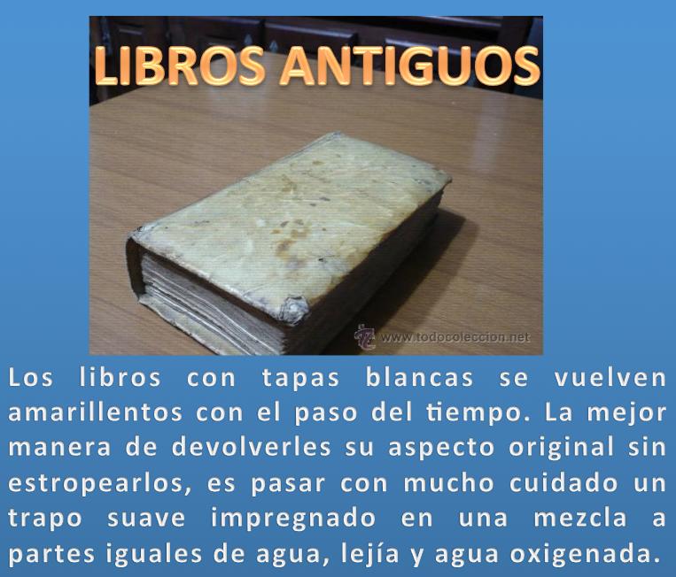 Limpiar libros antiguos de tapas blancas