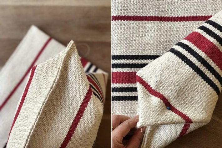 DIY bolso con una alfombra