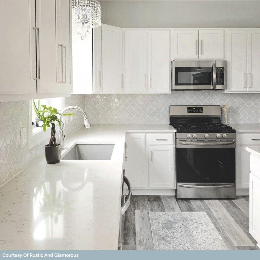 Nabi Arabesque Glacier White Marble And Ceramic Tile Arabesque Tile Backsplash Kitchen White Marble Kitchen Kitchen Marble