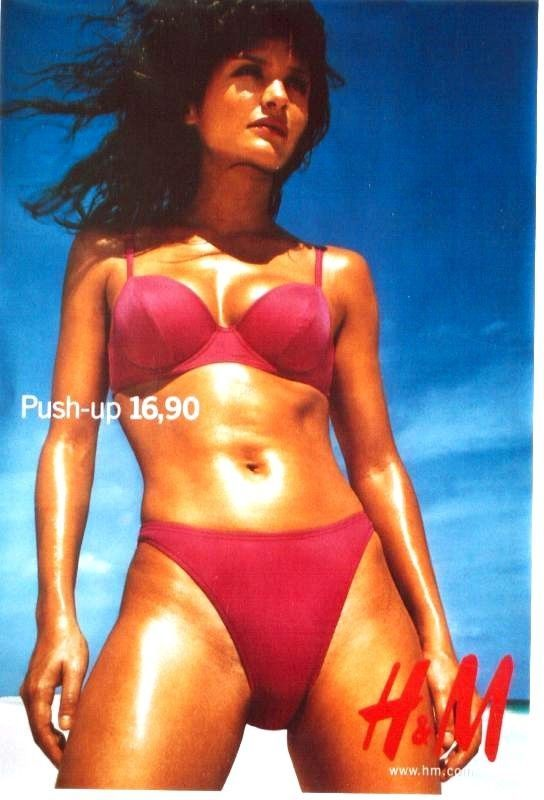 a04900e9327 Original vintage poster SEXY SWIMSUIT H M c.1995 Helena Christensen ...