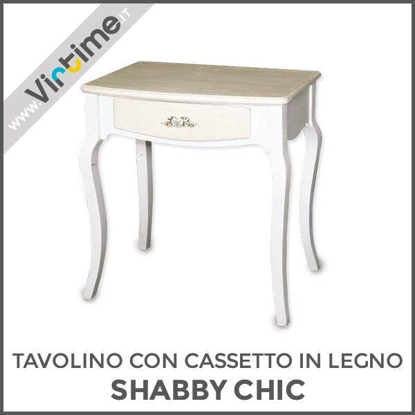 Tavolino Con Cassetti Legno.Tavolino Con Cassetto In Legno Bicolore Bianco Beige Effetto