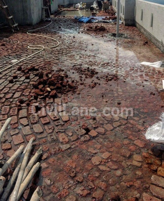 Terrace Brick Bat Coba Building Materials Firewood Woodburning Patio