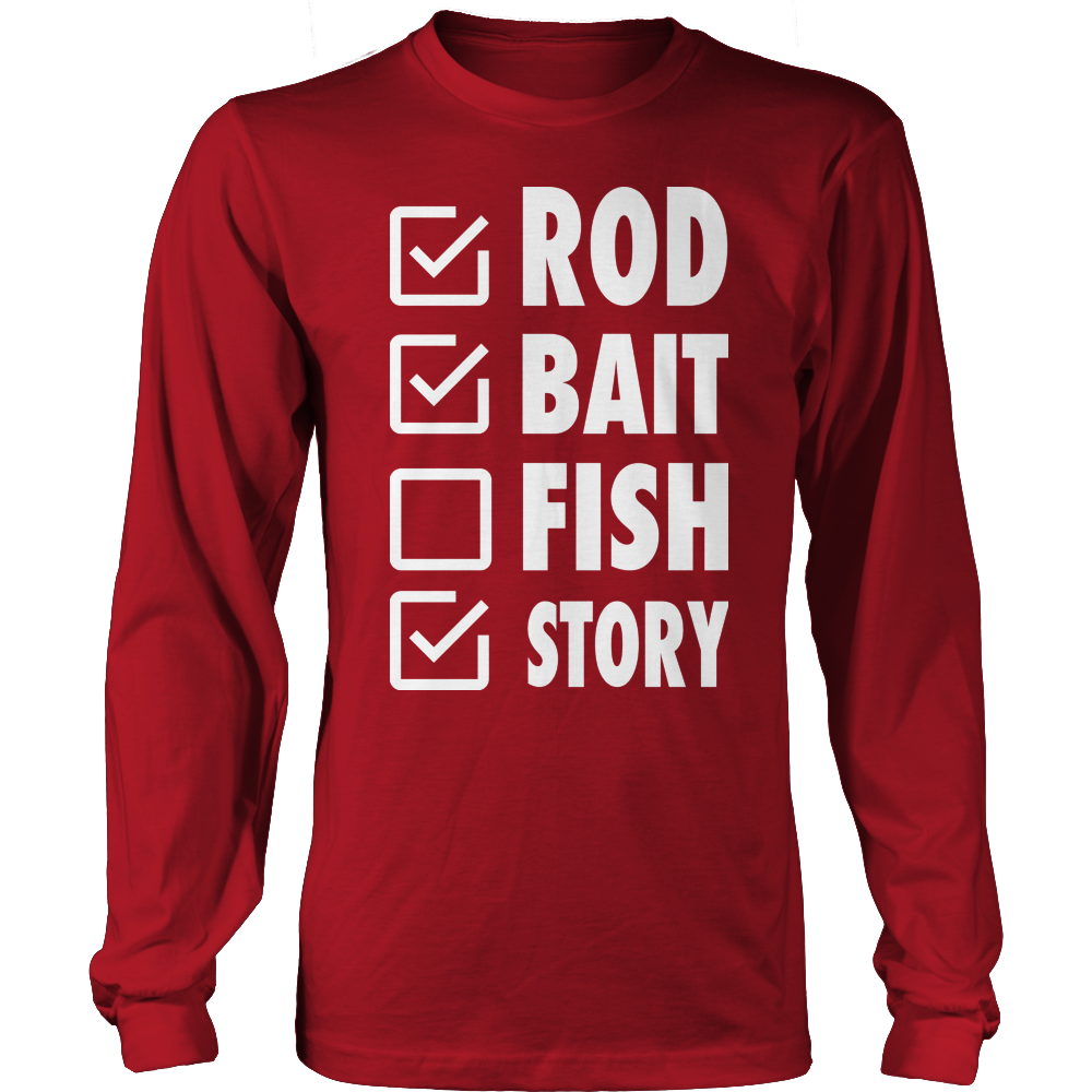 Rod Bait Fish Story Long Sleeve Tee
