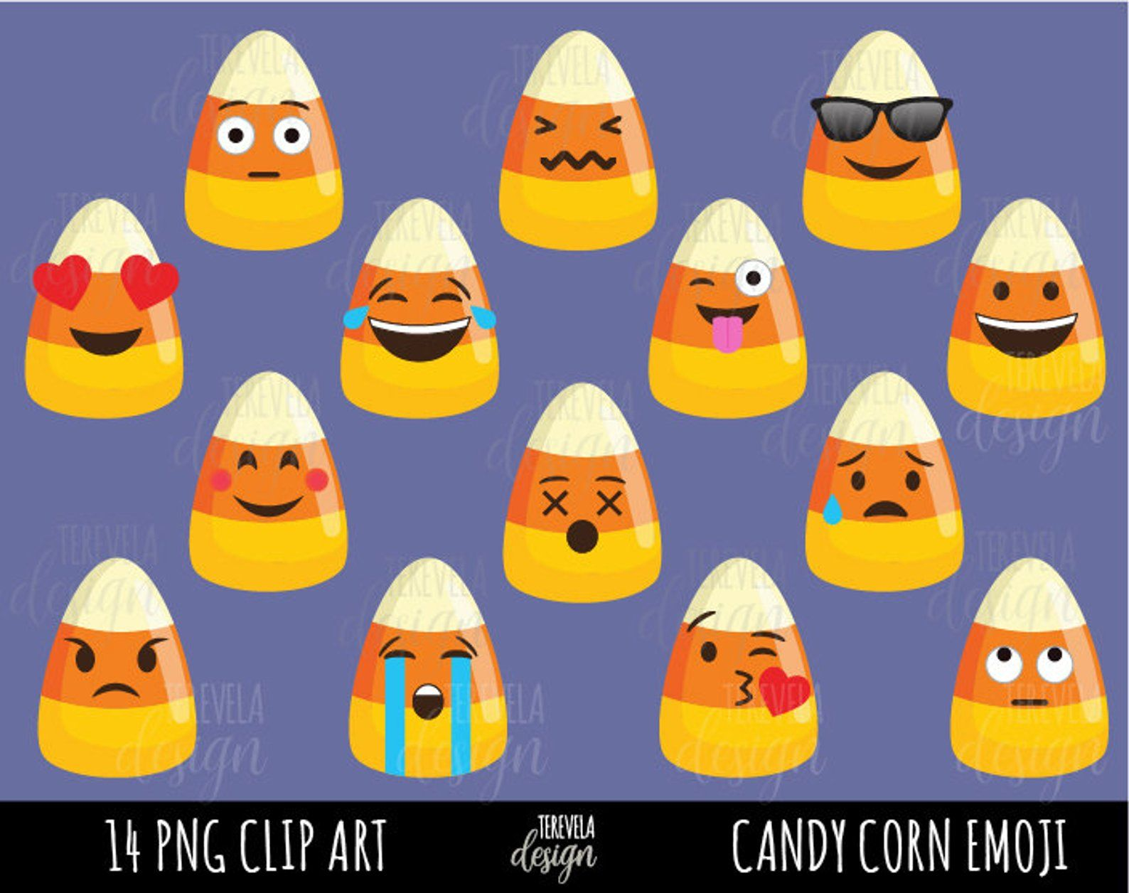HALLOWEEN clipart emoji clipart candy corn commercial use