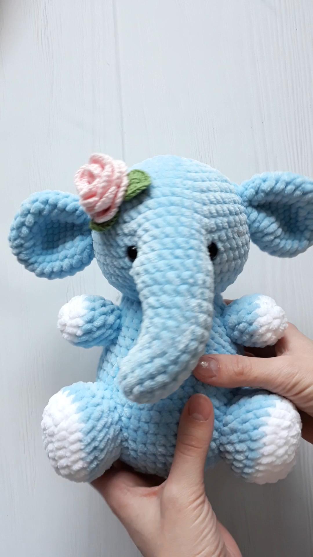 PATTERN Elephant / Crochet pattern Elephant / Amigurumi pattern / Crochet pattern toy