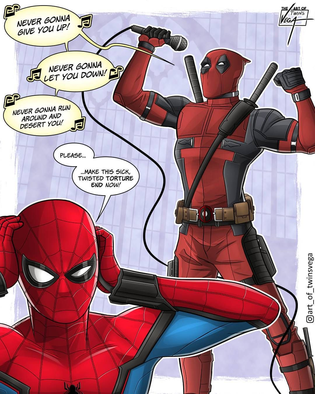 Let S Face It There Are Just Some Duos That Were Simply Meant To Be Mario And Luigi Pb And J But The Best Of Deadpool Comic Spiderman Comic Spiderman Funny