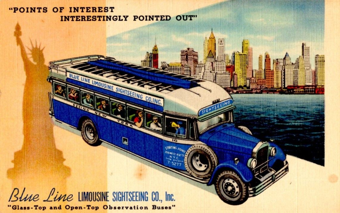 All sizes Blue Line Limousine Sightseeing Bus, New York