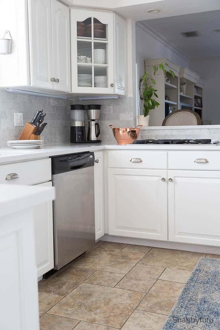 Carrara Marble Tile Backsplash Kitchen Reveal In 2018 Decor