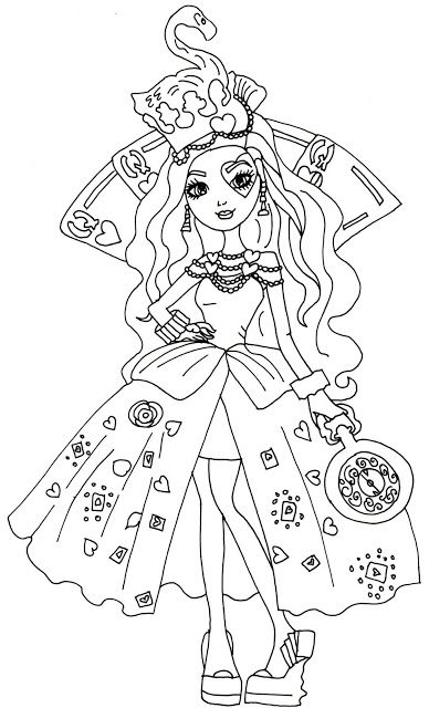 Free Printable Ever After High Coloring Pages Cartoon Coloring