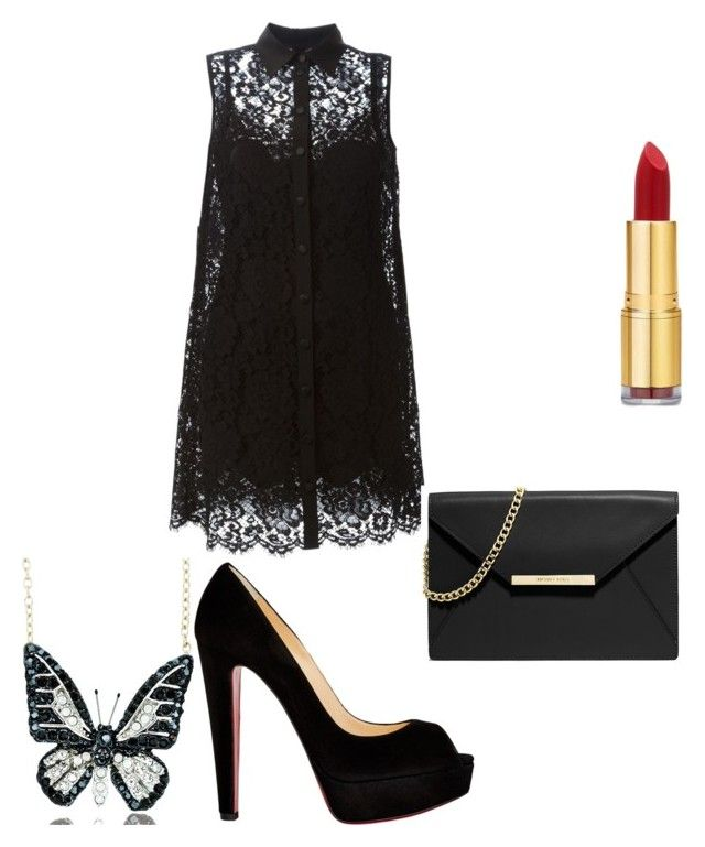 """going to the club"" by chloeparchman ❤ liked on Polyvore featuring beauty, Dolce&Gabbana, Christian Louboutin, Andrew Hamilton Crawford, MICHAEL Michael Kors and Isaac Mizrahi"