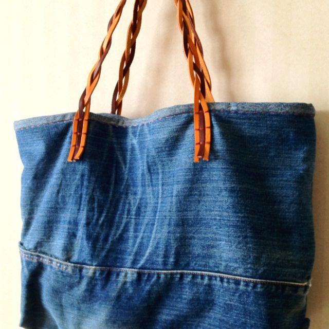 Upcycle jeans bag blue jeans reused pinterest for Old denim