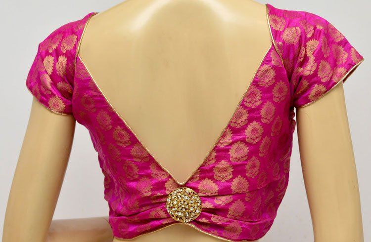 695a27bad55aa 20 Brocade Blouse Designs – Stealing The Show!