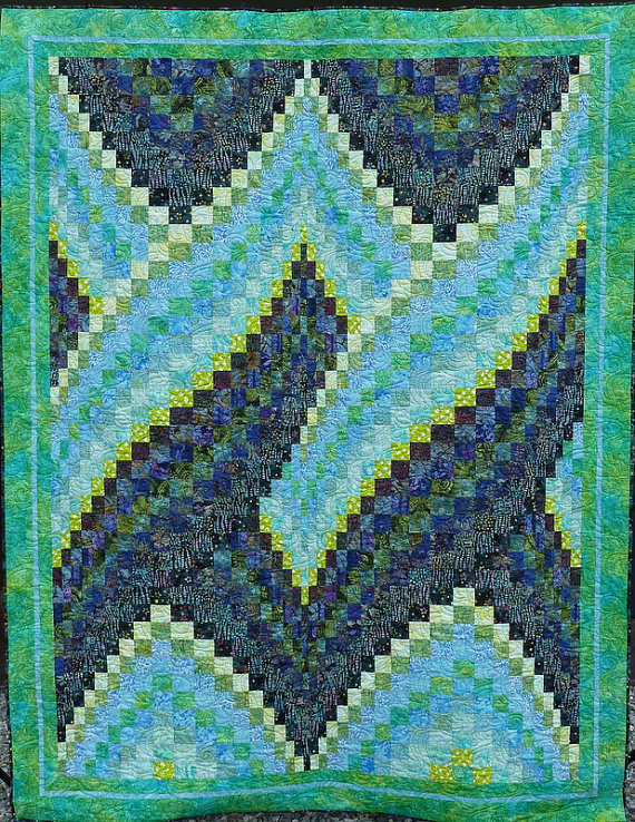 SALE Twisted Bargello Quilt By FiberArtbyDeana On Etsy BARGELLO Extraordinary Twisted Bargello Quilt Pattern Free