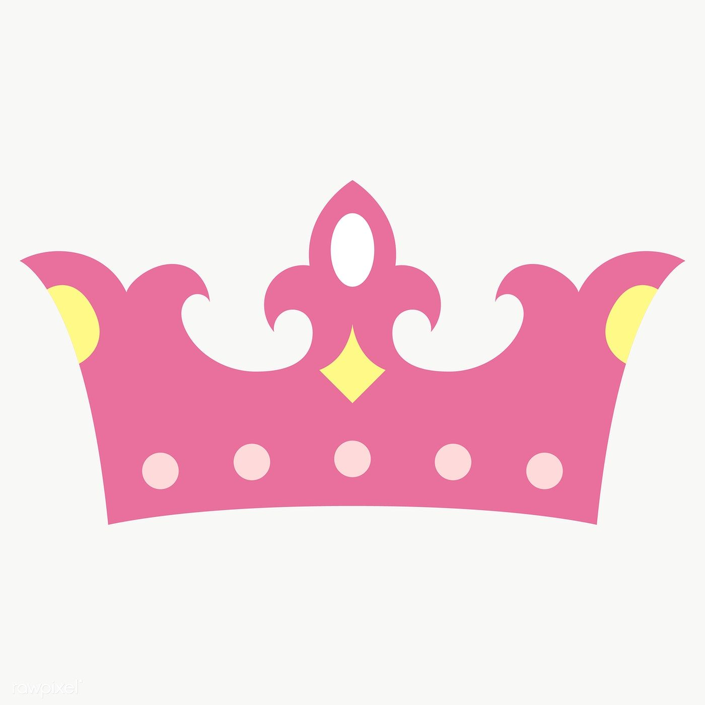 Pink Crown Design Element Transparent Png Free Image By Rawpixel Com Chayanit Crown Design Pink Crown Crown Png