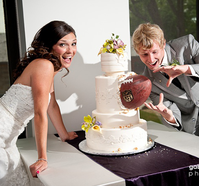 Incredibly Elegant NFL Football Wedding Cake With A Wilson Very Creative