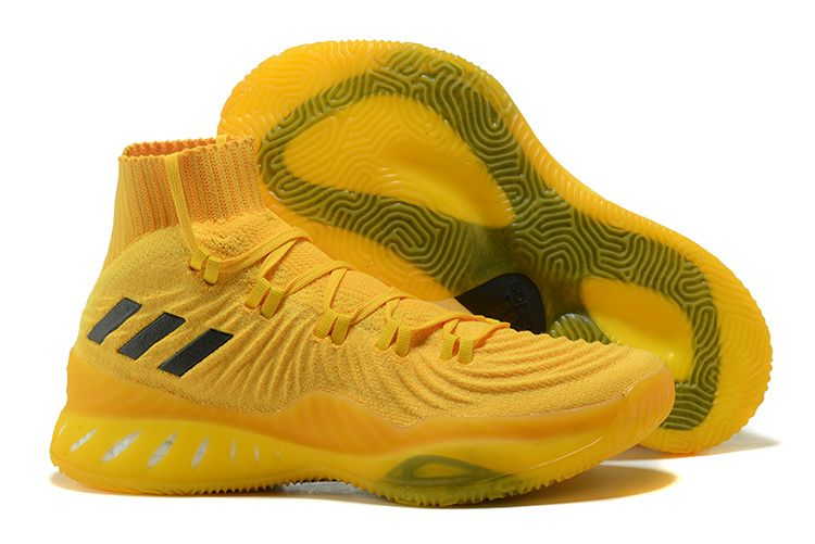 official photos 15f44 72350 2017 2018 Basketball Shoes adidas Crazy Explosive 2017 Primeknit Eqt Yellow  and Black Gold