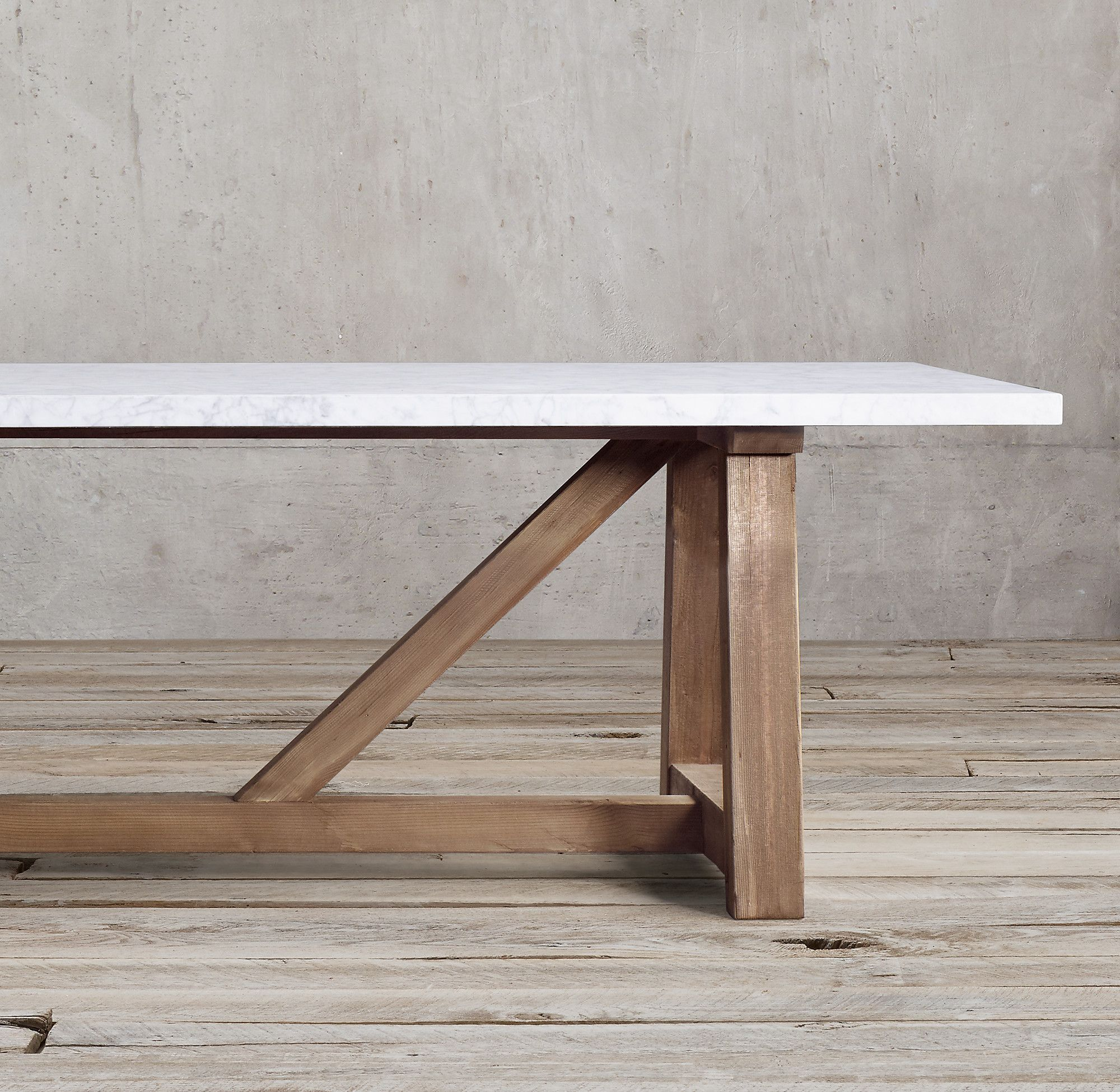 Salvaged Wood Marble Beam Rectangular Dining Table Dining Table Rectangular Dining Table Salvaged Wood Furniture