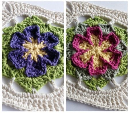 Bunga Crochet Square | Pinterest | Square, Häkeln und Blumen