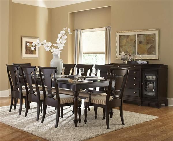 Inglewood Traditional Dark Cherry Wood Dining Table  Home New Cherry Wood Dining Room Set Inspiration Design
