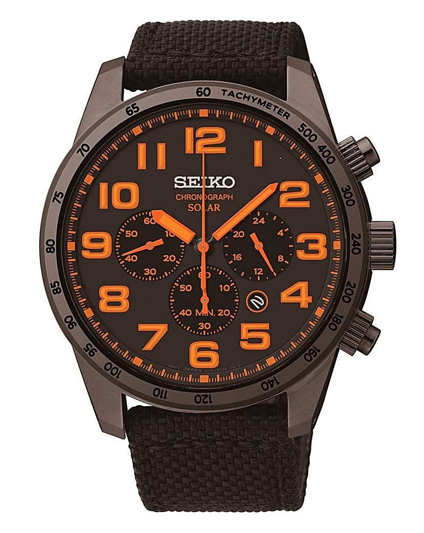 edfe90e31 Seiko Gents Solar Chronograph Watch | Products | Seiko watches ...