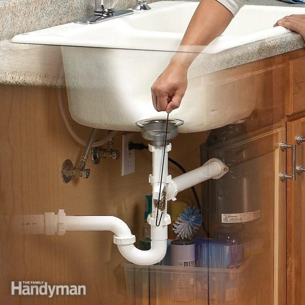 how to clean clogged kitchen sink drain unclog a kitchen sink the family handyman the family 9330