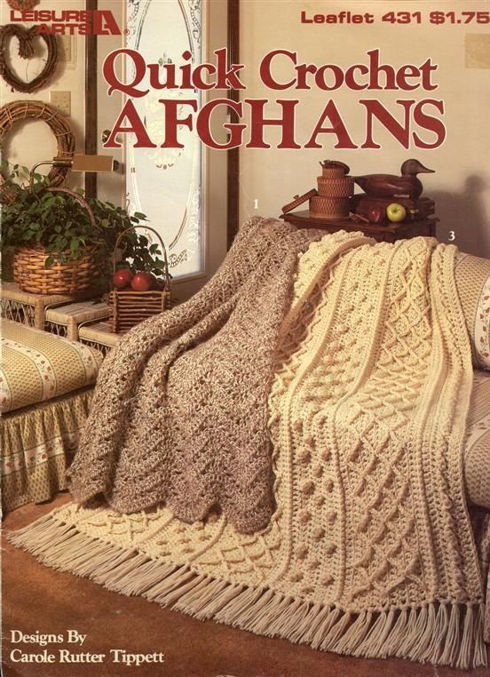 Crochet Afghan Patterns With 2 Colors : Quick Crochet Afghans to Crochet - 3 Crochet Patterns ...