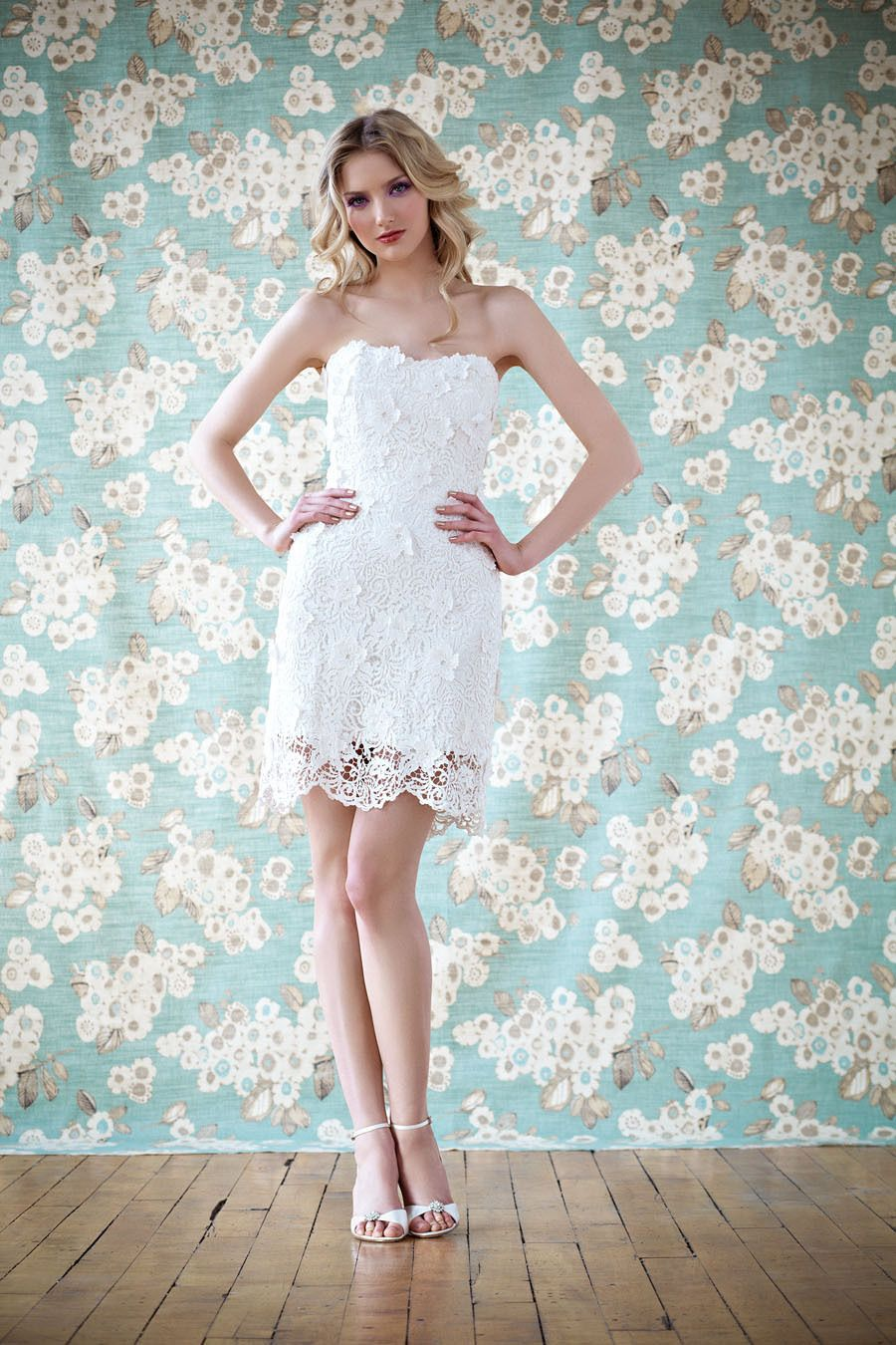 Short Lace Wedding Dress by Anais Anette   Spring 2014 Collection ...