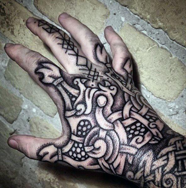 100 norse tattoos for men medieval norwegian designs tattoo pinterest tatouages vikings. Black Bedroom Furniture Sets. Home Design Ideas