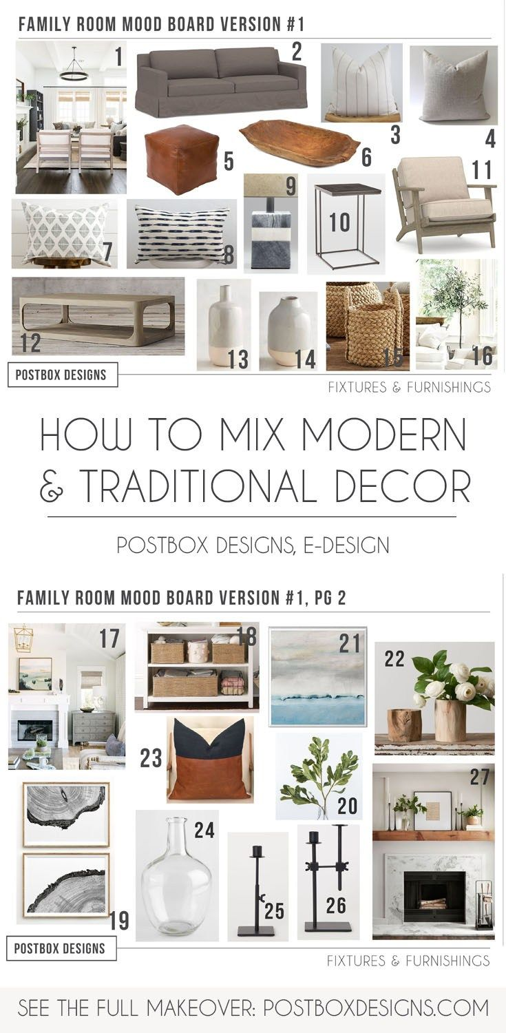 Check Out This Traditional + Modern Living Room Design - Postbox Designs