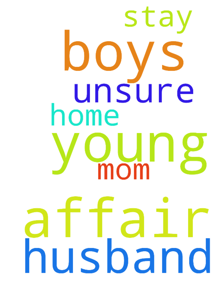 Husband had an affair. 2 young boys, - Husband had an affair. 2 young boys, stay at home mom. Unsure what to do... Posted at: https://prayerrequest.com/t/sQ8 #pray #prayer #request #prayerrequest