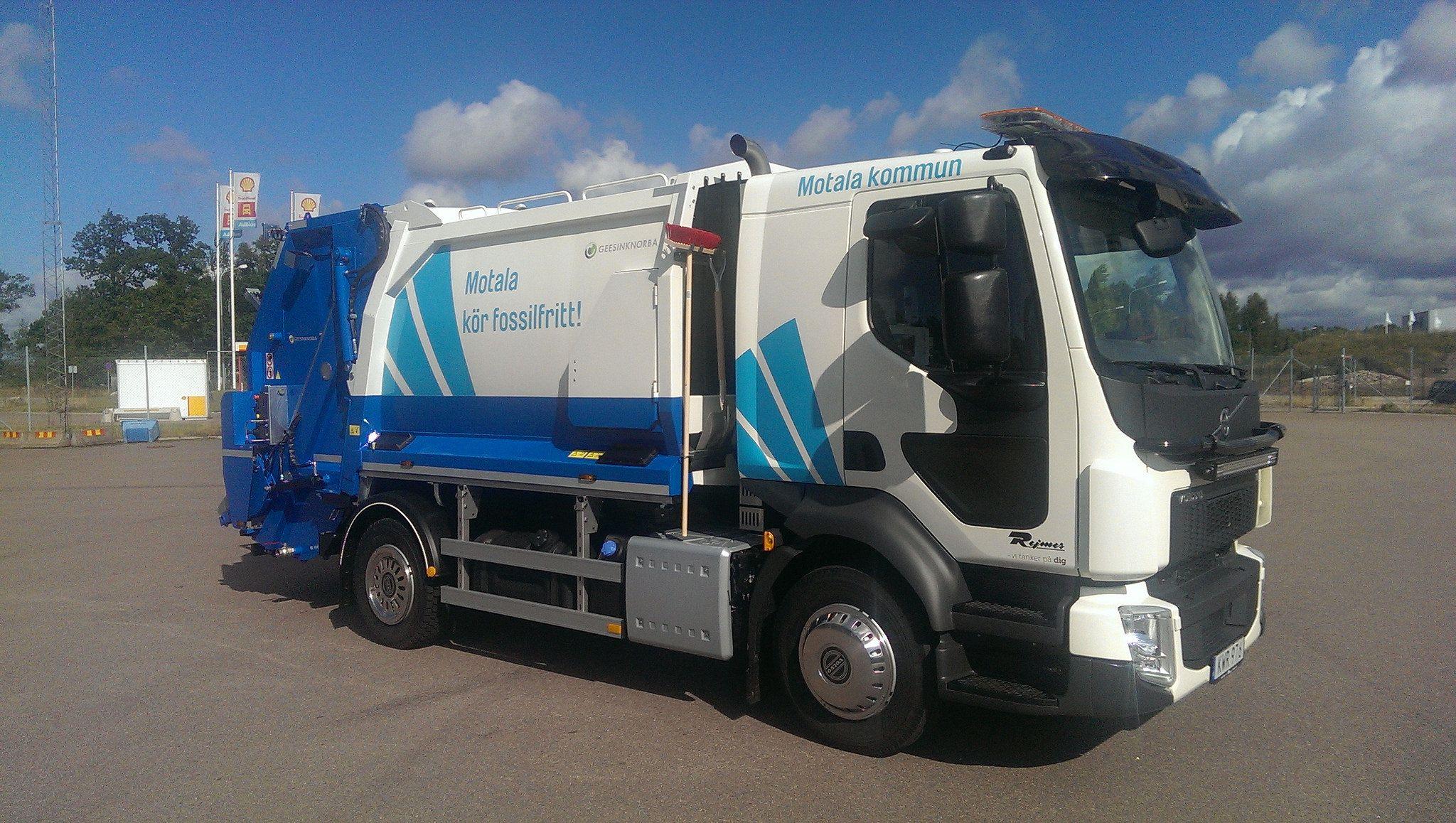 Motala Kommun Garbage Truck Trucks Trash Collector
