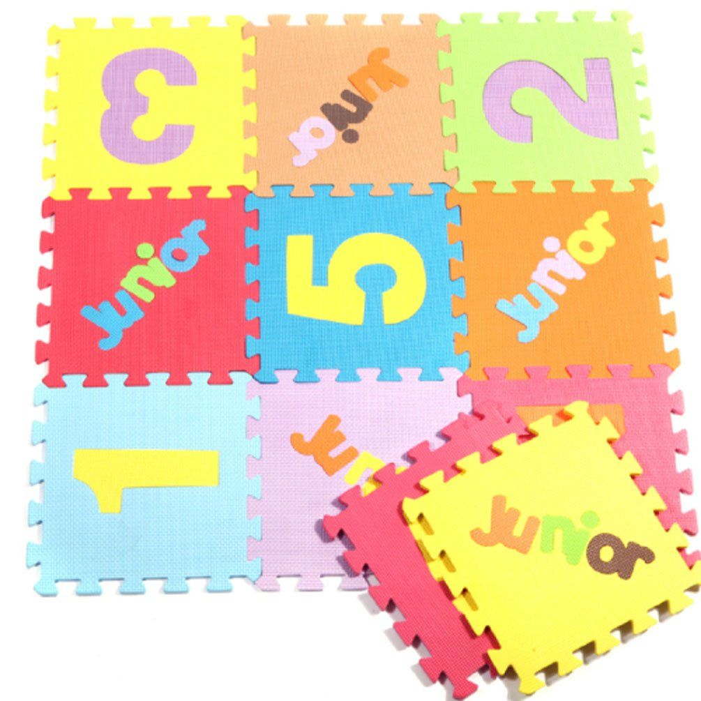 Co color by number games kids -  Biguddo Bigood Educational Puzzle Color Mat Joint Mat Educational Mat Puzzle Eva Material Floor Mat Play Mat Infant Kids 10 Pieces Numbers Tried It