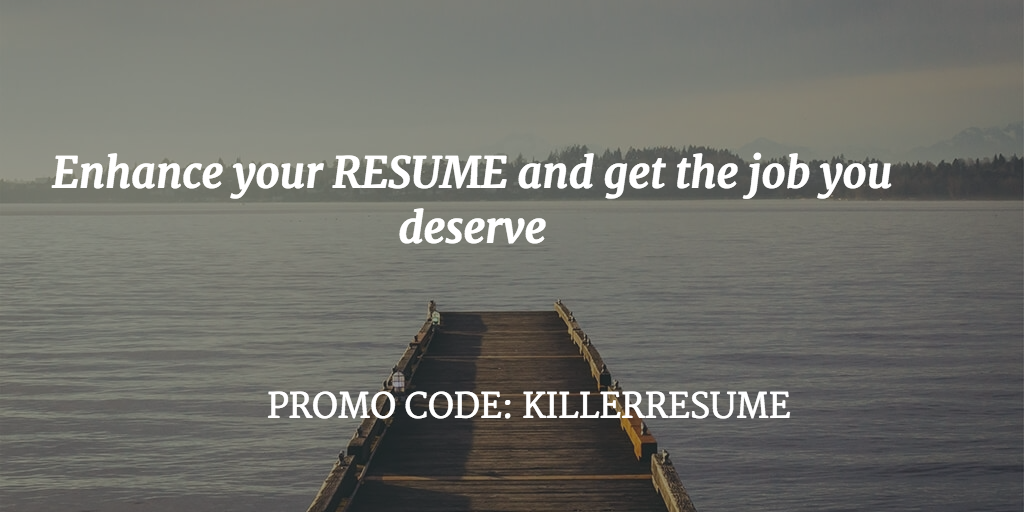 enhance your resume and get the job you deserve promo code